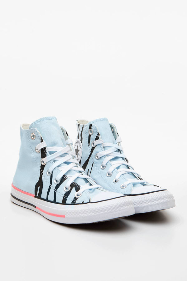 #00063  Converse Turnschuhe CHUCK TAYLOR ALL STAR SUN BLOCKED 662 AGATE BLUE/ELECTRIC BLUSH/BLACK