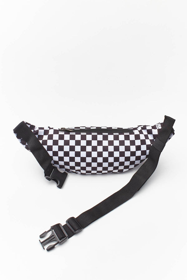 #00089  Vans Gürteltasche MINI WARD CROSS BODY HU0 BLACK/WHITE CHECKERBOARD