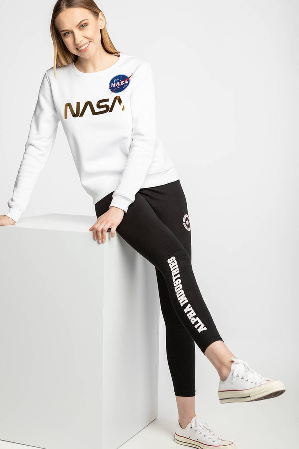 #00006  Alpha Industries Bluse NASA PM Sweater Wmn 438 WHITE/GOLD
