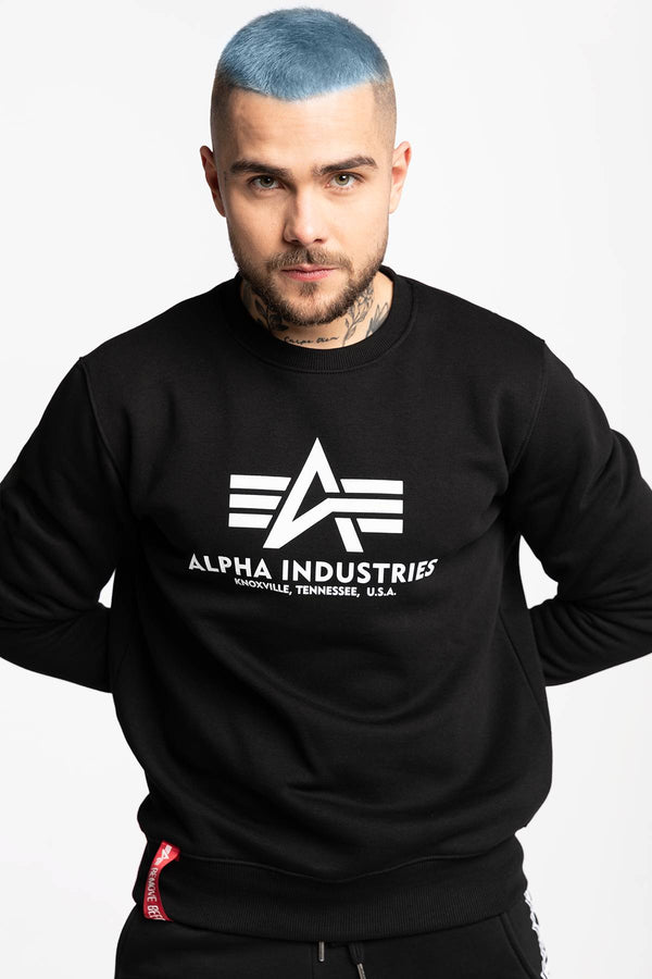 #00002  Alpha Industries Bluse BASIC SWEATER 03 BLACK