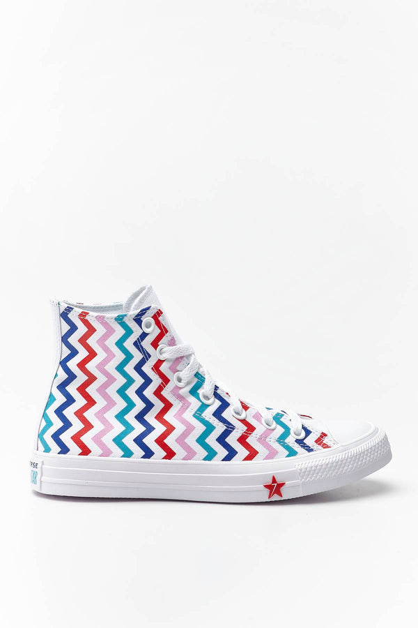 #00104  Converse Turnschuhe CHUCK TAYLOR ALL STAR HI 046 WHITE/UNIVERSITY RED