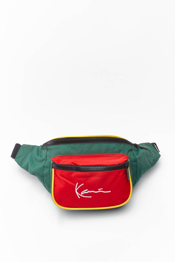 #00028  Karl Kani Gürteltasche SIGNATURE BLOCK WAIST BAG 909 RED/GREEN/YELLOW