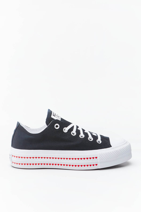 #00031  Converse Turnschuhe CHUCK TAYLOR ALL STAR LIFT OX 158 BLACK/UNIVERSITY RED/WHITE