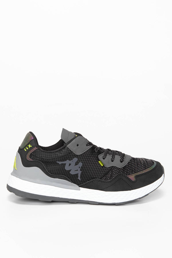 #00077  Kappa Sneakers LAVERTON Unisex 242930-1133 BLACK/LIME