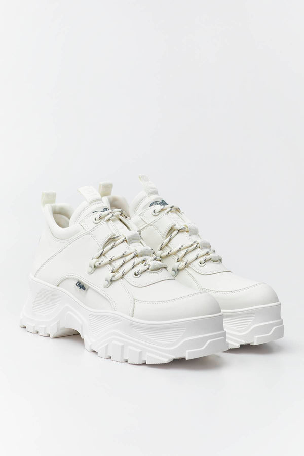 #00016  Buffalo Sneakers GLDR CT 037 WHITE