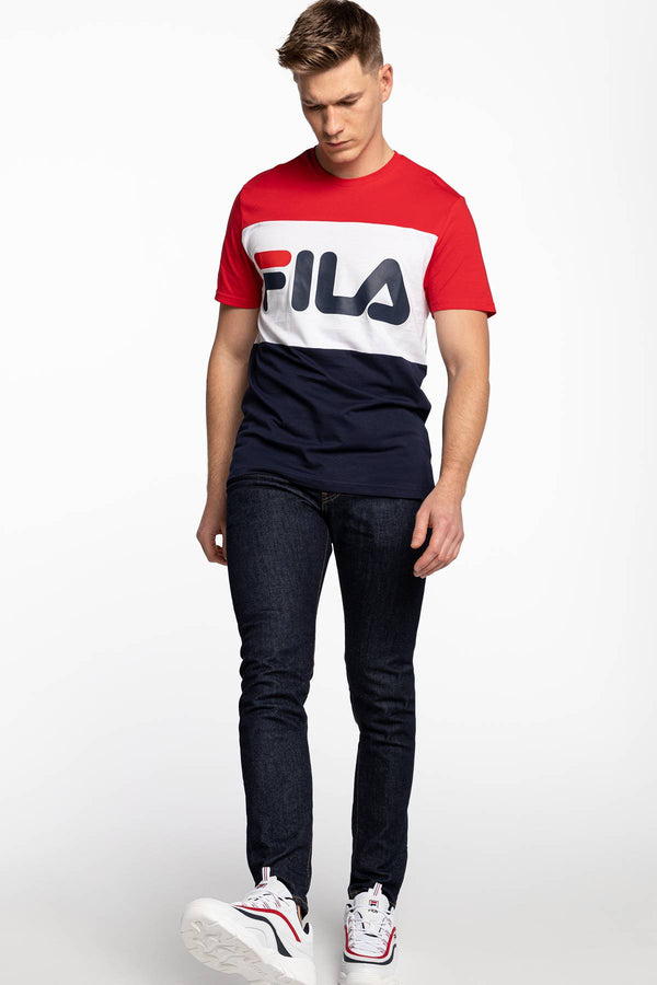 #00001  Fila T-Shirt MEN DAY TEE G06 BLACK IRIS/TRUE RED/BRIGHT WHITE
