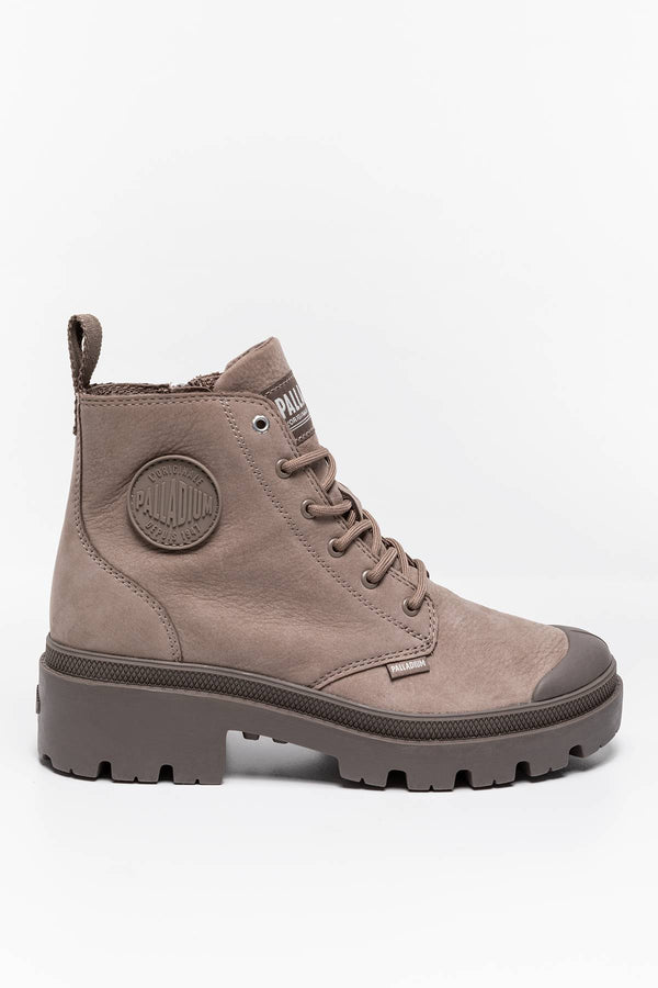 #00002  Palladium High-Top Schuhe Plbase NBK 96906-256 TAUPE