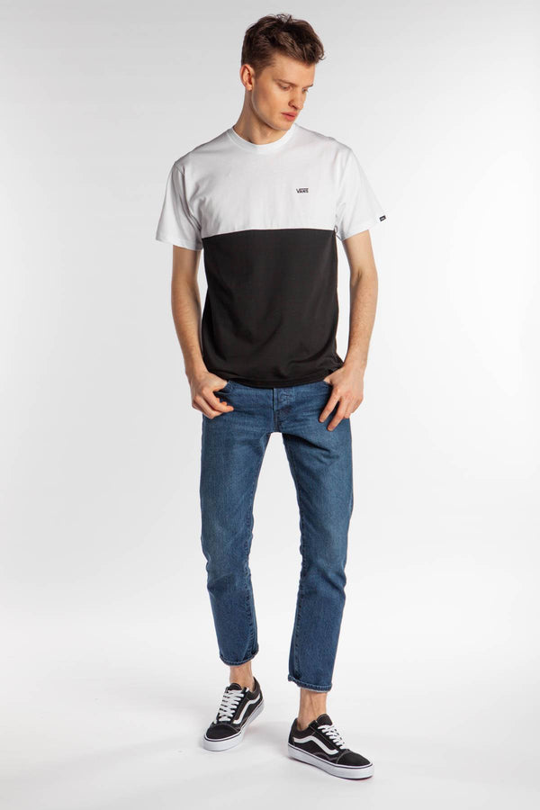 #00013  Vans T-Shirt COLORBLOCK TEE Y28 BLACK/WHITE