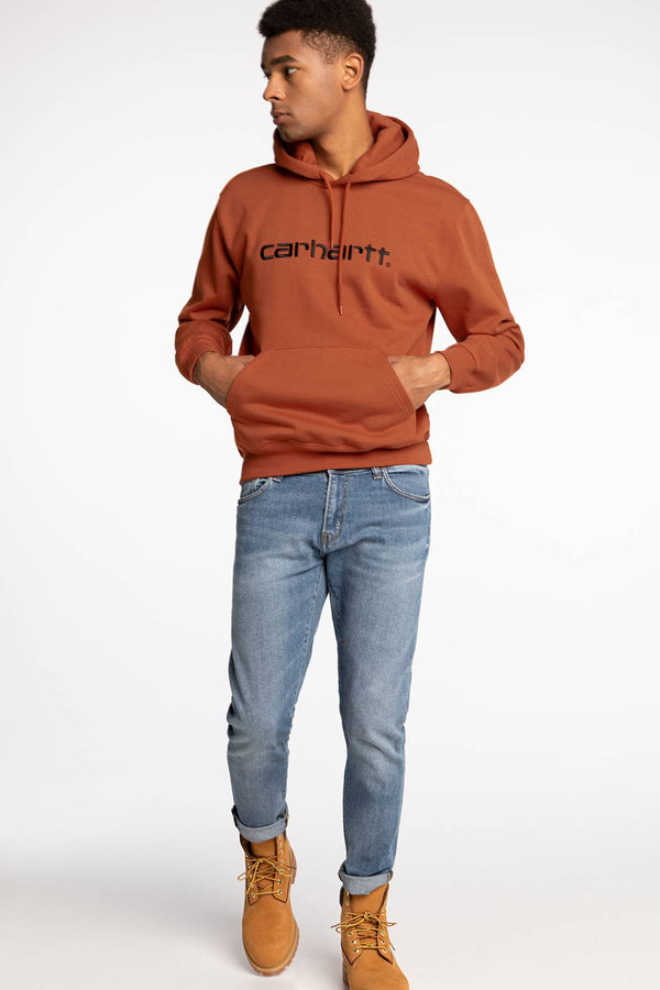 #00002  Carhartt WIP Bluse Hooded Carhartt Sweat 093 CINNAMON / BLACK