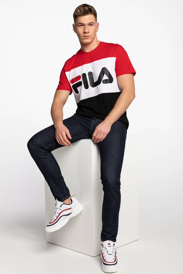 #00004  Fila T-Shirt DAY TEE A089 TRUE RED/BLACK/BRIGHT WHITE