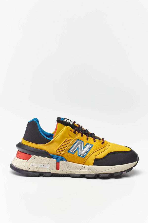 #00014  New Balance Sneakers MS997SKB VARSITY GOLD WITH BLACK/NEO CLASSIC BLUE