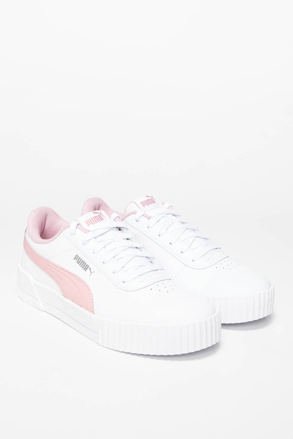 #00005  Puma Sneakers Carina L Jr 37067713 WHITE - PEACHSKIN