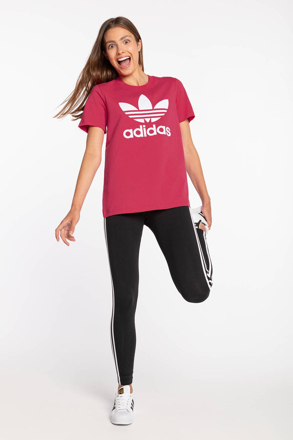 #00203  adidas T-Shirt TREFOIL TEE 312 POWER PINK / WHITE