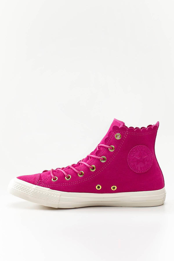 #00105  Converse Turnschuhe CHUCK TAYLOR ALL STAR SCALLOP 424 ACTIVE FUCHSIA/GOLD/EGRET