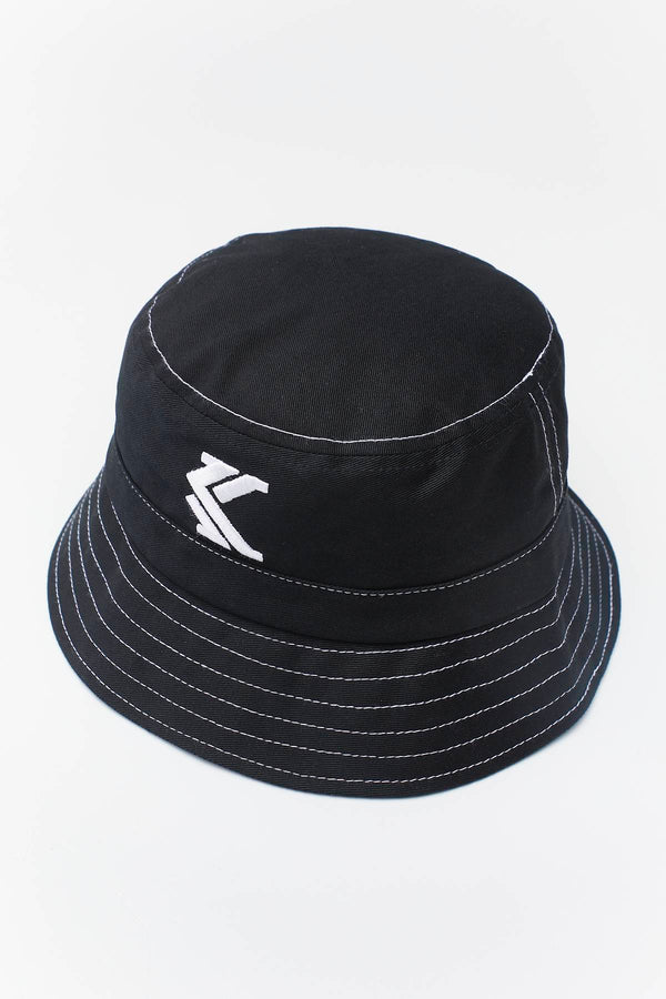 #00007  Karl Kani Mütze BUCKET HAT 046 BLACK/WHITE