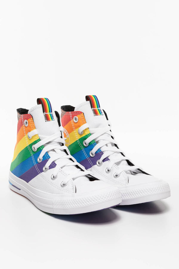 #00003  Converse Turnschuhe Chuck Taylor All Star Pride 167758C WHITE/UNIVERSITY RED