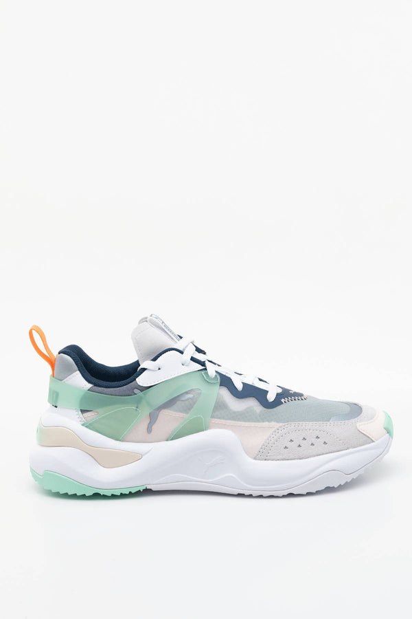 #00018  Puma Sneakers RISE WN'S 01 WHITE/MIST GREEN/CANTALOUPE