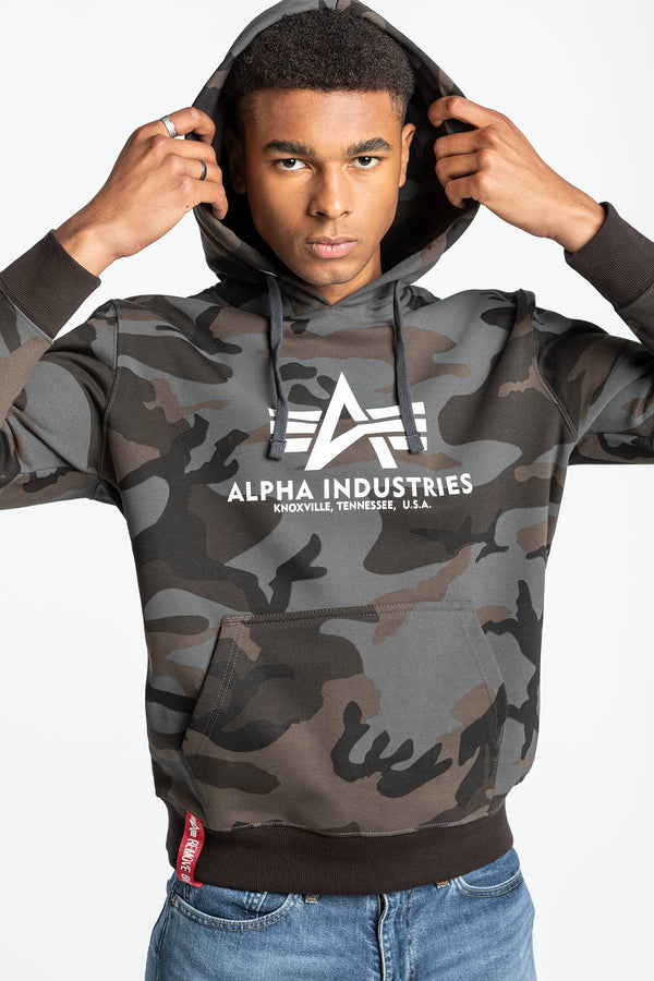 #00001  Alpha Industries Bluse Basic Hoody Camo 178312C-125 CAMO/BLACK
