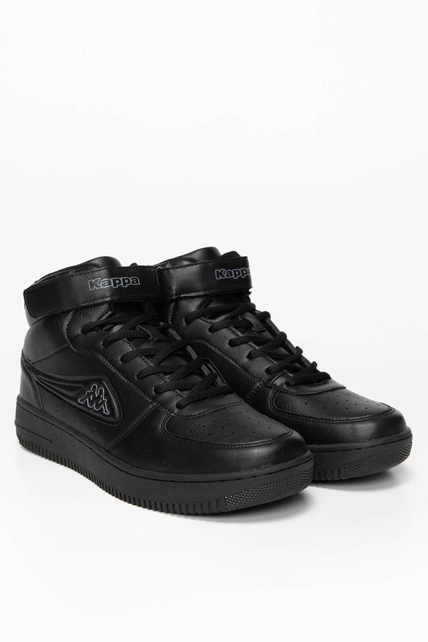 #00023  Kappa Sneakers BASH MID Unisex 242610-1116 BLACK