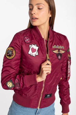 #00032  Alpha Industries Jacke MA-1 Custom Wmn 198016-454 PINK