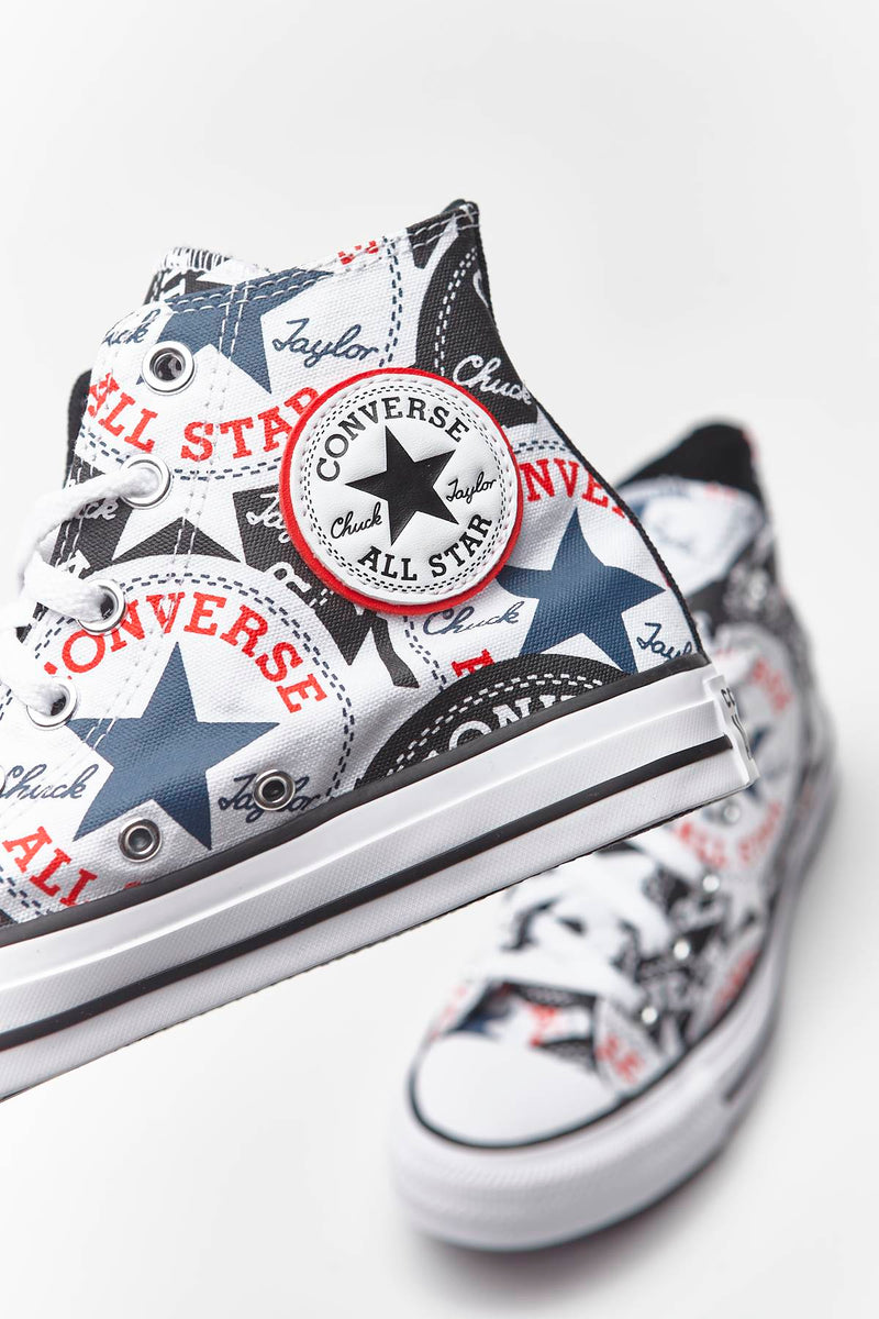 #00019  Converse Turnschuhe CHUCK TAYLOR ALL STAR HI 985 BLACK/MULTI/WHITE