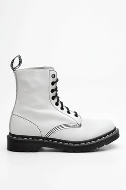 #00051  Dr.Martens High-Top Schuhe 1460 PASCAL BLACK & WHITE WHITE VIRGINIA