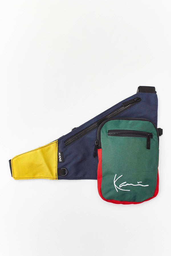 #00031  Karl Kani Gürteltasche SIGNATURE BLOCK BODY BAG 908 NAVY/GREEN/YELLOW/RED