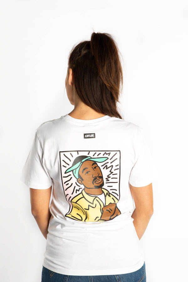 #00004  Cayler & Sons T-Shirt 2PAC LINES TEE 01928 WHITE/MC