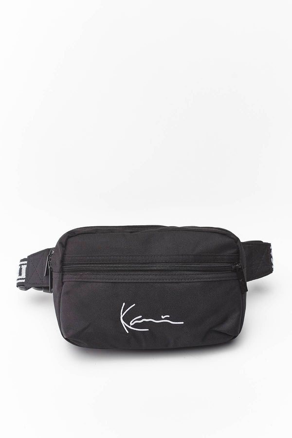 #00029  Karl Kani Gürteltasche SIGNATURE TAPE HIP BAG 907 BLACK/WHITE