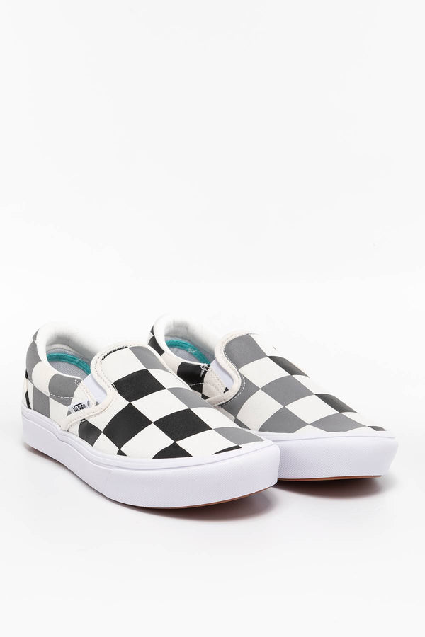 #00051  Vans Turnschuhe COMFYCUSH SLIP-ON WXA (HALF BIG CHECKER) BLACK/FROST GRAY