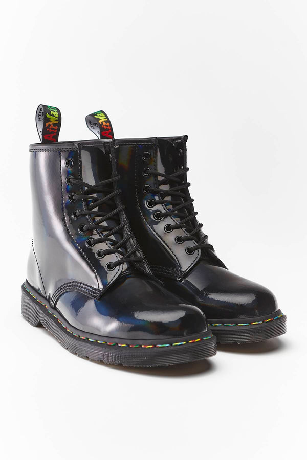 #00070  Dr.Martens High-Top Schuhe 1460 RAINBOW PATENT BLACK