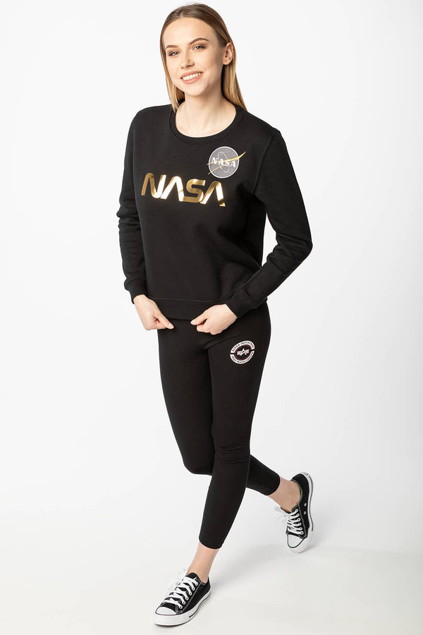 #00010  Alpha Industries Bluse NASA PS SWEATER WNM 365 BLACK/GOLD