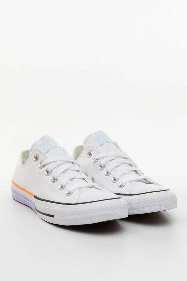 #00048  Converse Turnschuhe SUNBLOCKED CHUCK TAYLOR ALL STAR LOW TOP 752 WHITE/AGATE BLUE