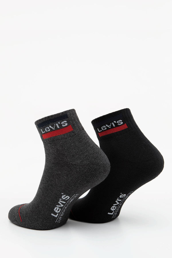 #00060  Levi's Socken 144NDL MID CUT 0148 MID GREY/BLACK