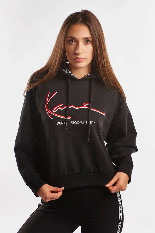 #00011  Karl Kani Bluse SIGNATURE TAPE HOODIE 978 BLACK/RED