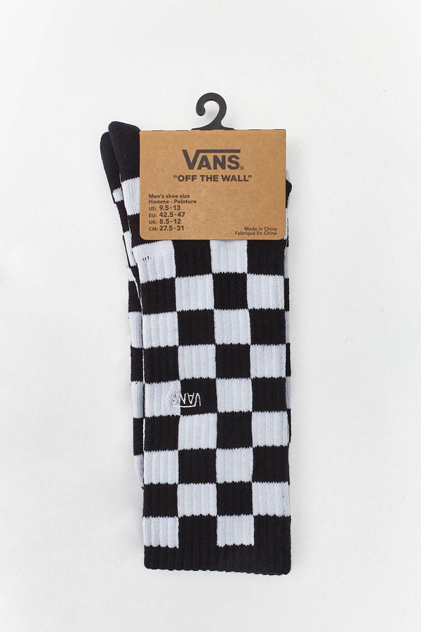 #00047  Vans Socken CHECKERBOARD II CREW HU0 BLACK/WHITE CHECK