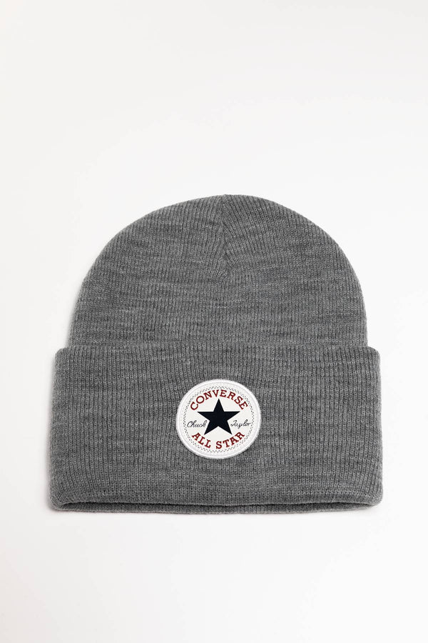 #00190  Converse Mütze 10019012-A02 Chuck Patch Tall Beanie GREY