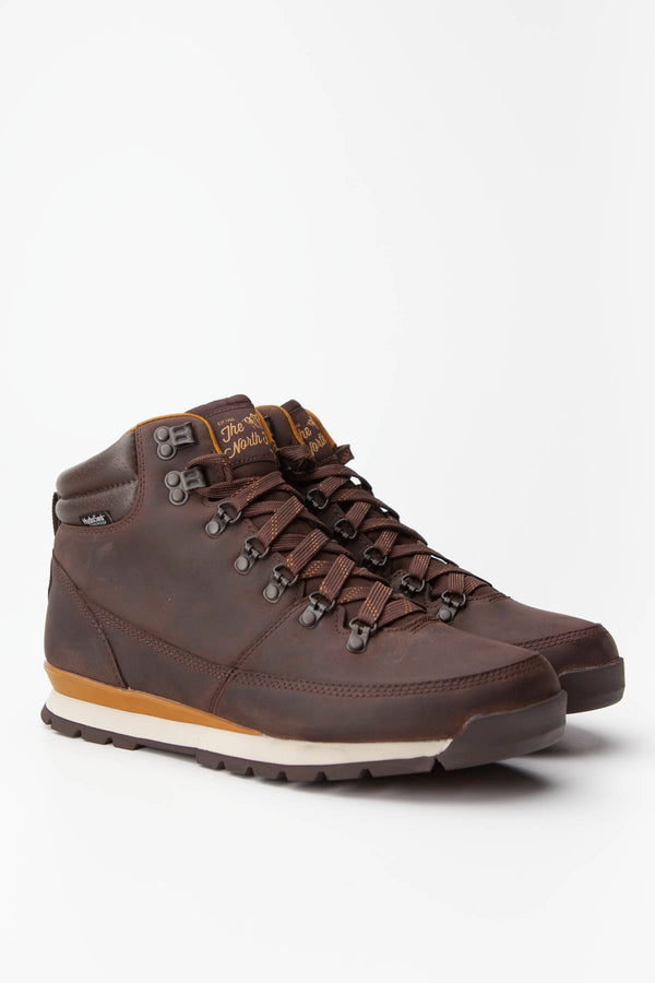 #00040  The North Face Outdoorschuhe MEN'S BACK-TO-BERKELEY REDUX LEATHER 090 CHOCOLATE BROWN/GOLDEN BROWN