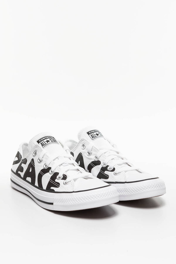 #00007  Converse Turnschuhe CHUCK TAYLOR PEACE 894 WHITE/BLACK/WHITE