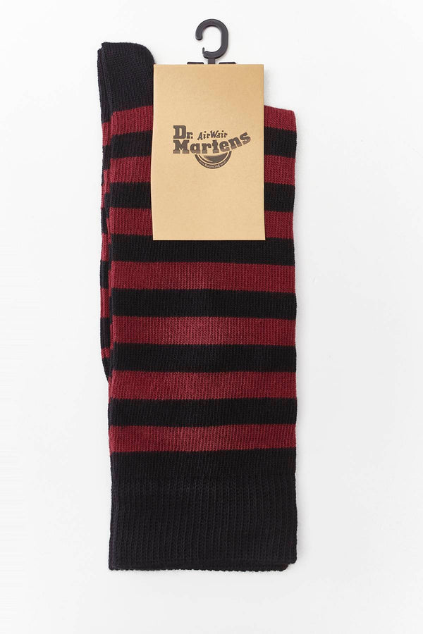 #00099  Dr.Martens Socken THIN STRIPE SOCKS CHERRY RED/BLACK