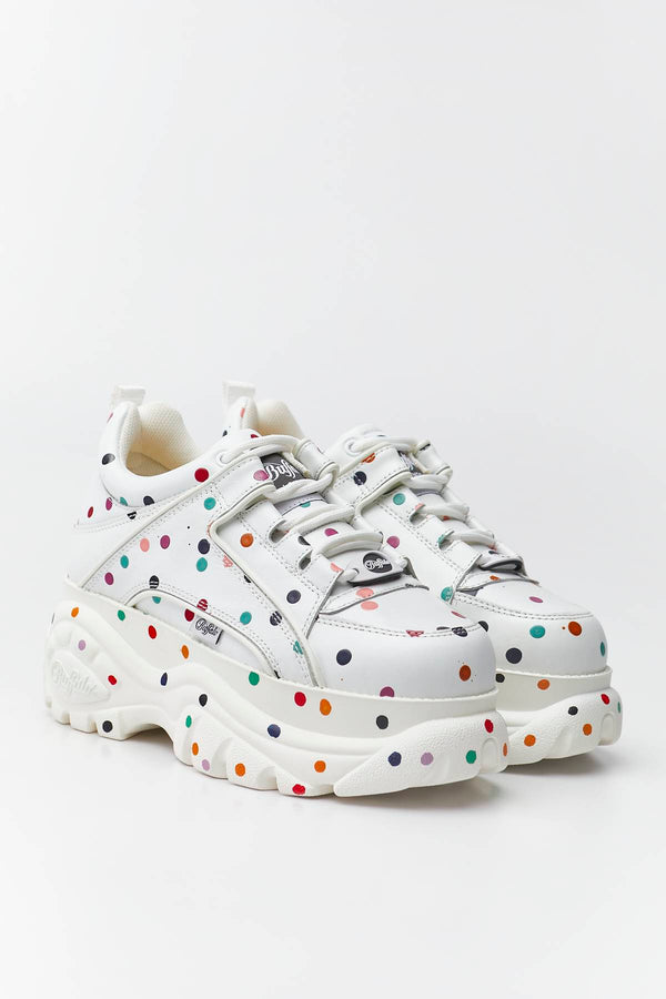 #00002  Buffalo Sneakers 1339-14 2.0 WHITE/DOTTED