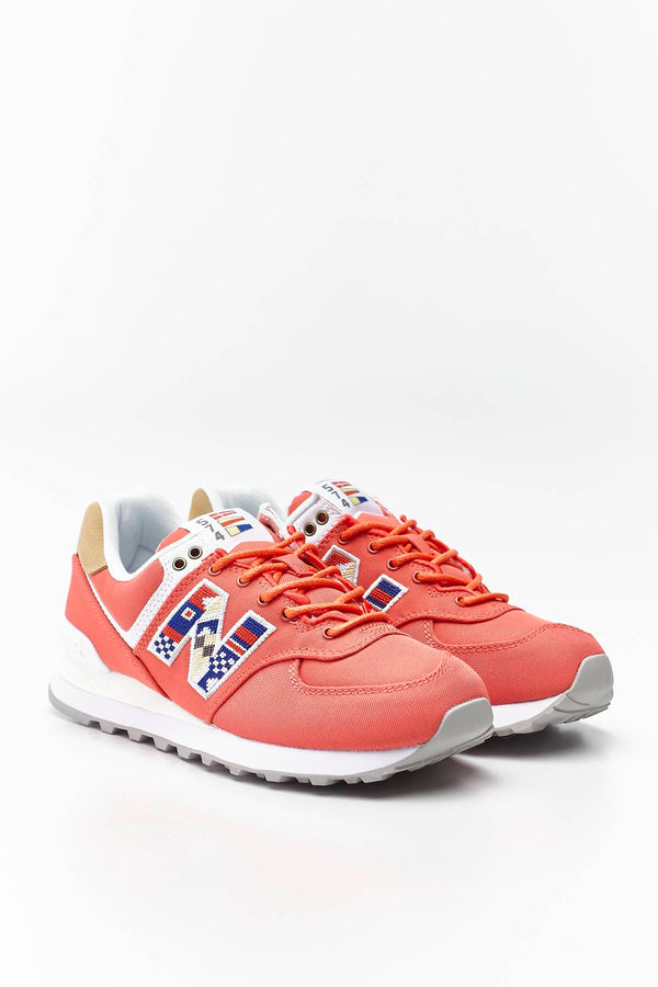 #00026  New Balance Sneakers WL574SOF TORO RED WITH INCENSE