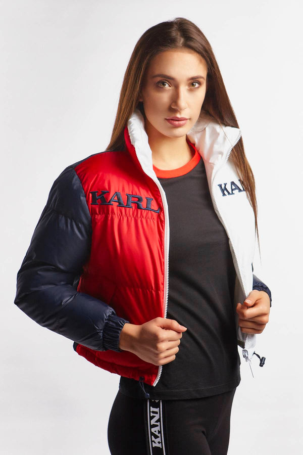 #00006  Karl Kani Jacke RETRO REVERSIBLE PUFFER JACKET 168 NAVY/RED/WHITE