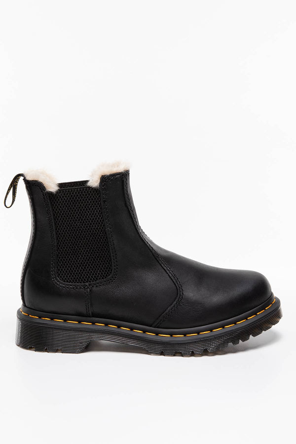 #00141  Dr.Martens High-Top Schuhe 2976 Leonore Chelsea Boot BLACK BURNISHED WYOMING BLACK