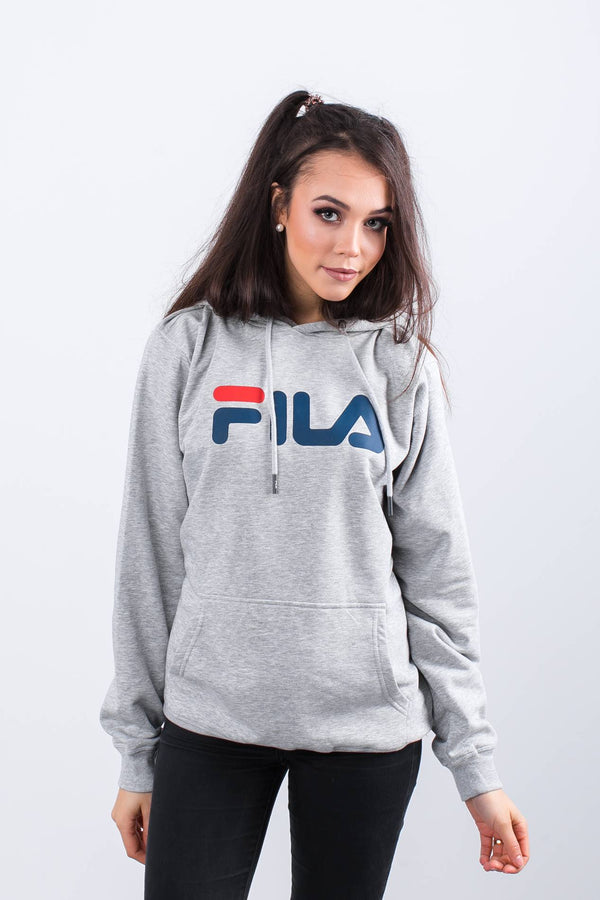 #00023  Fila Bluse PURE HOODY B13 LIGHT GREY MELANGE BROS