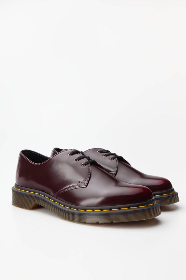 #00052  Dr.Martens Halbschuhe VEGAN 1461 OXFORD BRUSH CHERRY RED