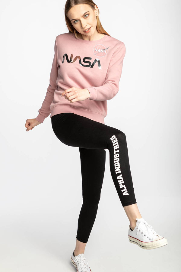 #00002  Alpha Industries Bluse NASA PM Sweater Wmn 487 PINK/SILVER