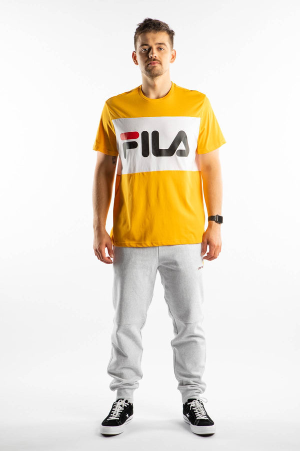 #00018  Fila T-Shirt DAY TEE A218 CITRUS/BRIGHT WHITE