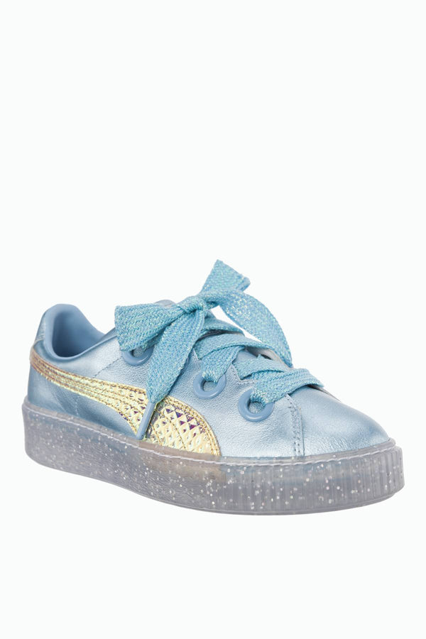 #00015  Puma Sneakers PLATFORM GLITTER PRINCESS SOPHIA WEBSTER METALLIC BLUE/FLUO ORANGE