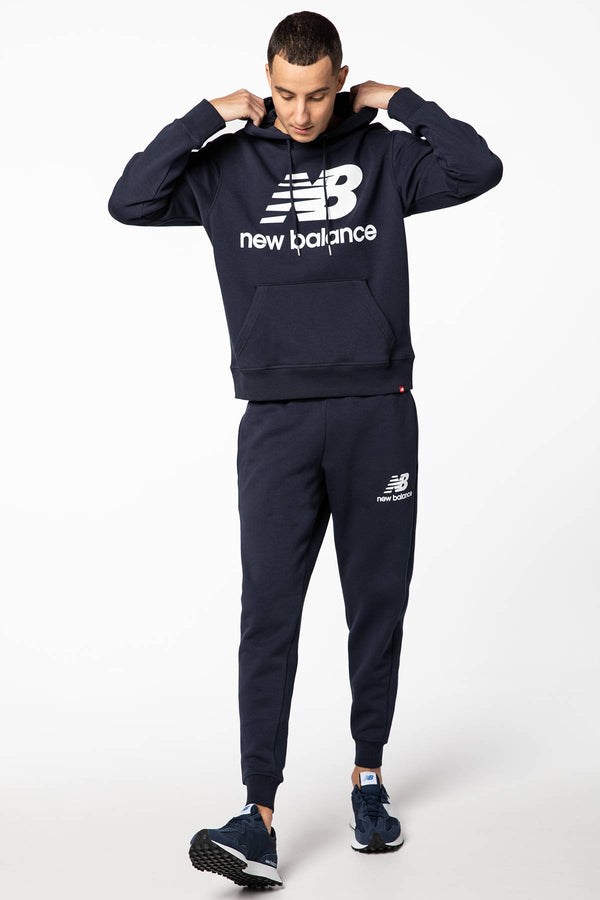 #00002  New Balance Bluse ESSENTIALS STACKED LOGO PO HOODIE NBMT03578ECL NAVY